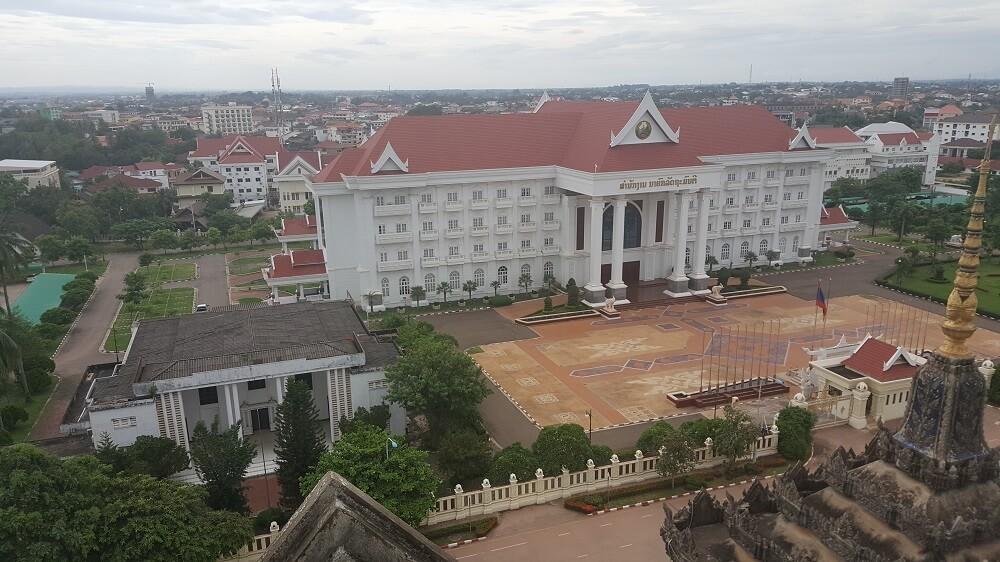 11 вид из арки Поездка за визой из Бангкока во Вьентьян самостоятельно. Бангкок визаран.