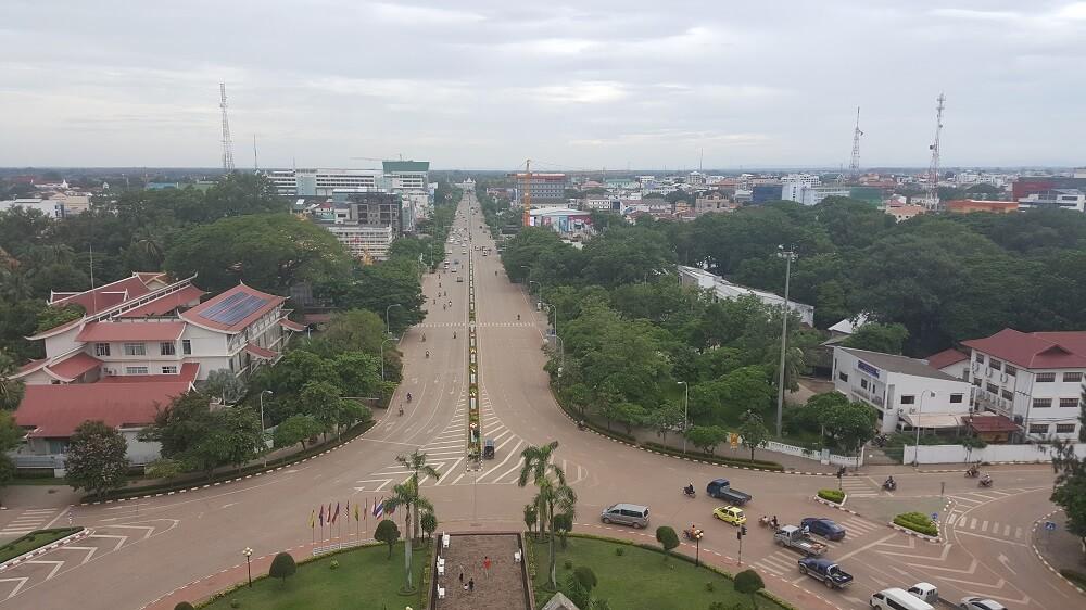 8 вид на город вьентьян Поездка за визой из Бангкока во Вьентьян самостоятельно. Бангкок визаран.