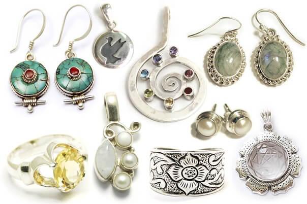 серебро с самоцветами Ювелирный магазин на Пхукете.