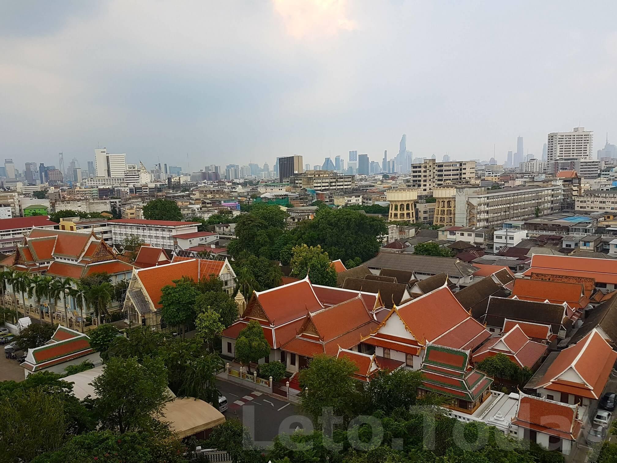ват сакет leto.today (9) Обзорная площадка в Бангкоке - Ват Сакет