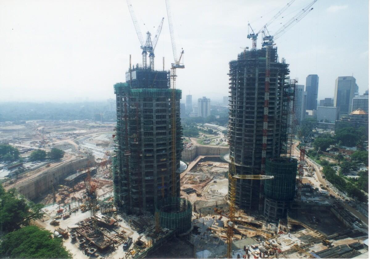 строительство башен петронас